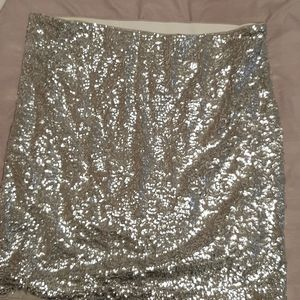 Sequin H&M Midi Skirt